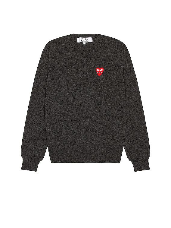 V-Neck Pullover in Grey