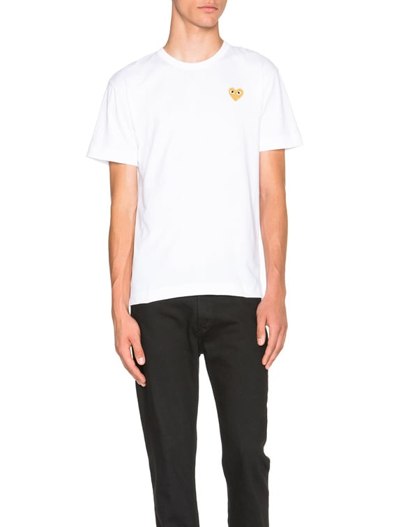 Gold Emblem Tee in White
