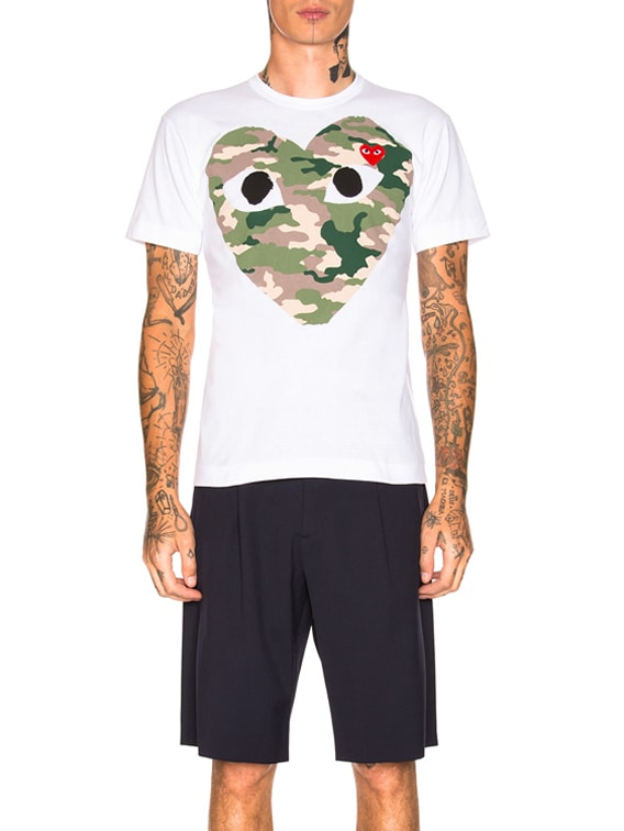 Camouflage Tee in White