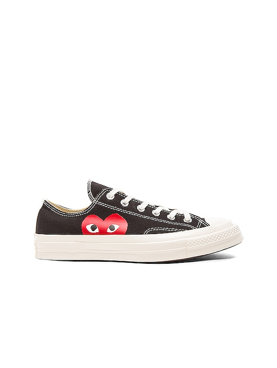Converse Large Emblem Low Top Canvas Sneakers in Black