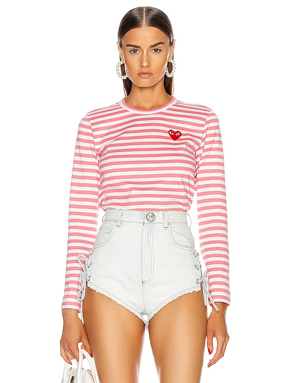 Striped Tee in Pink