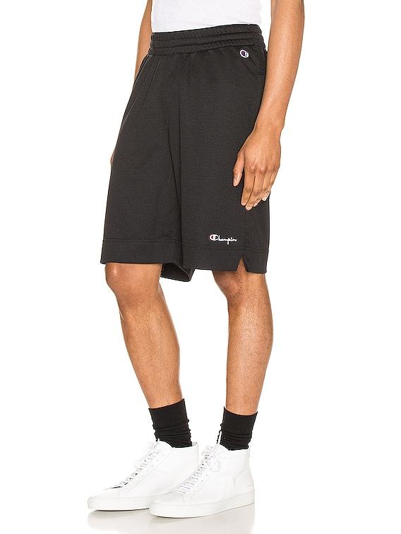 Mesh Basketball Short in Black