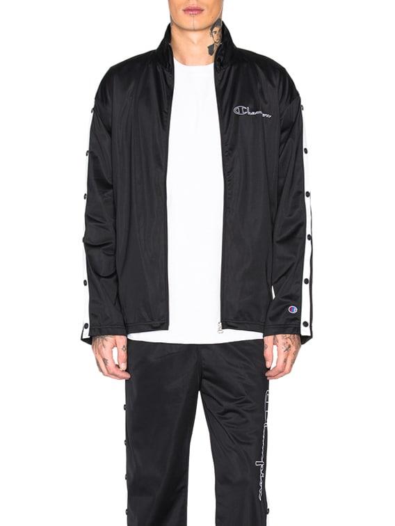 Champion Full Zip Jacket in Black & White
