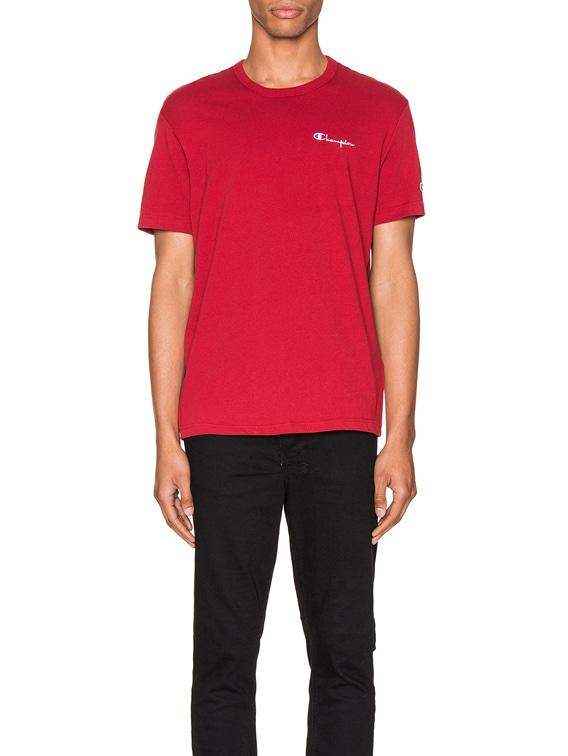 Small Script T-Shirt in Scarlet