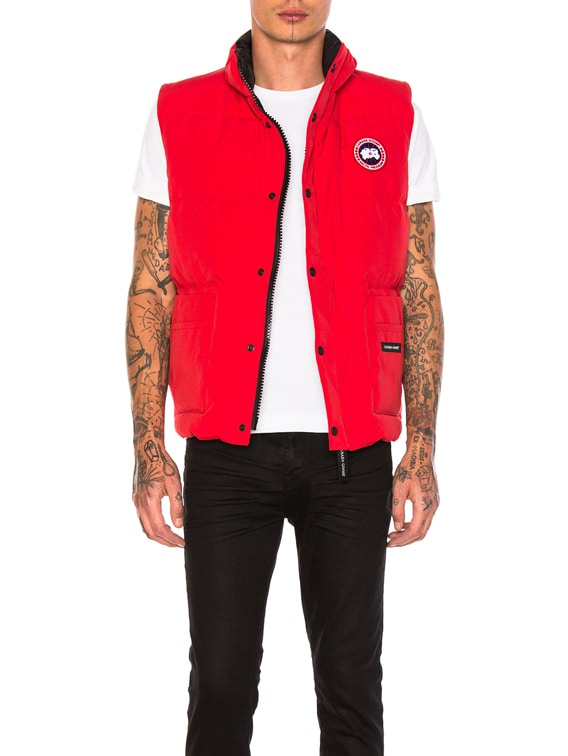 Freestyle Poly-Blend Vest in Red
