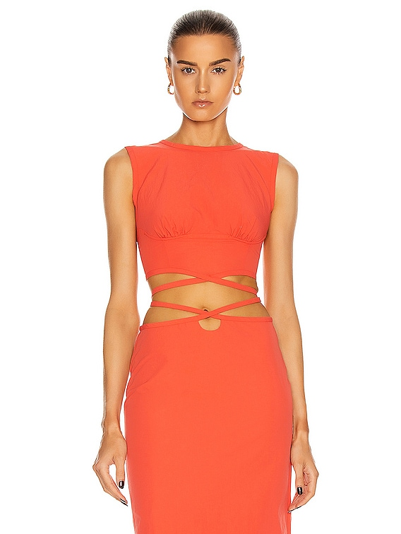 Underwire Crop Top in Coral