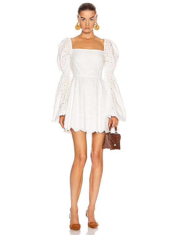 Wren Dress in White