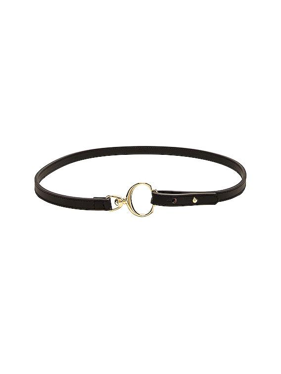 Leather C Belt in Black