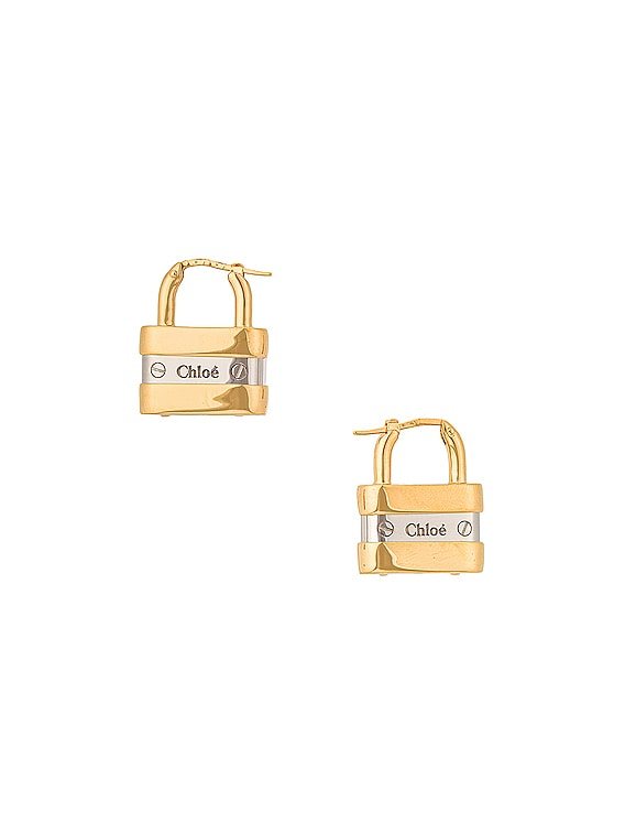 Colleen Lock Earrings in Gold & Silver