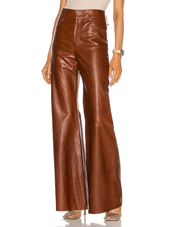 Leather Pant in Sharp Brown
