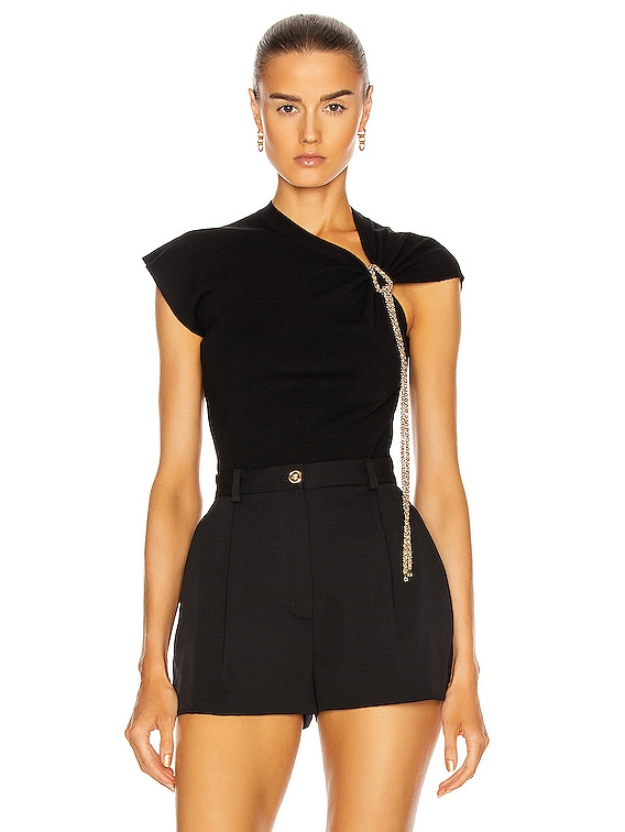 Sleeveless Knot Top in Black