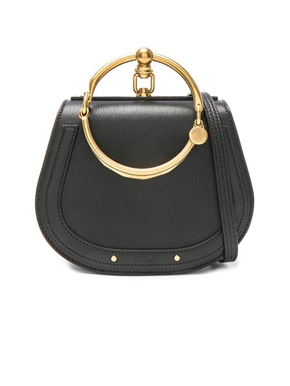 Small Nile Bracelet Bag Calfskin & Suede in Black