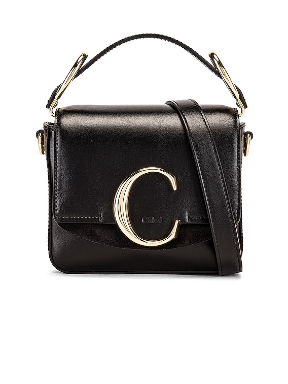 C Mini Box Bag in Black