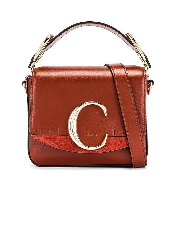 Mini C Box Bag in Sepia Brown
