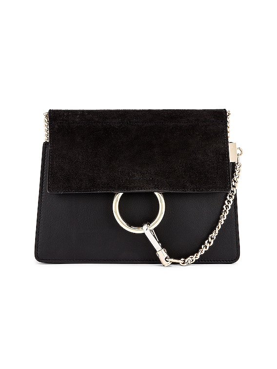 Mini Faye Shoulder Bag in Black
