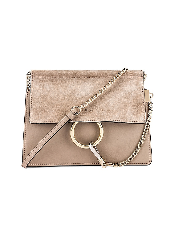 Mini Faye Shoulder Bag in Motty Grey