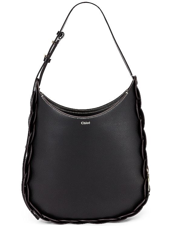 Medium Darryl Leather Bag in Black