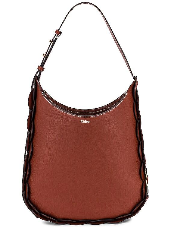 Medium Darryl Leather Bag in Sepia Brown