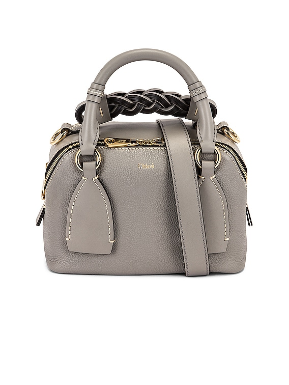 Small Daria Leather Day Bag in Stormy Grey