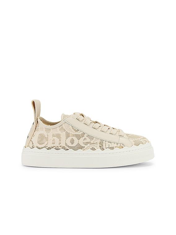 Lauren Lace Sneakers in Mild Beige