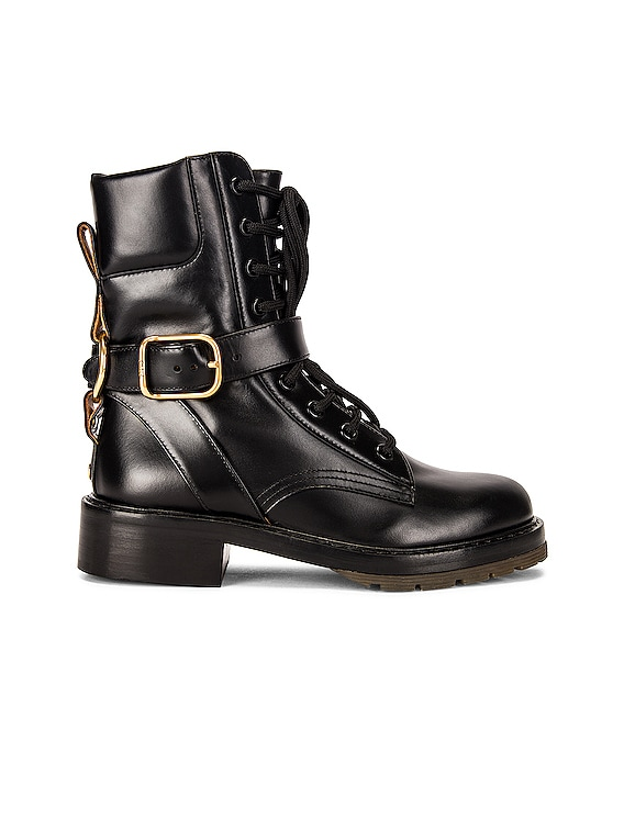 Diane Combat Boots in Black