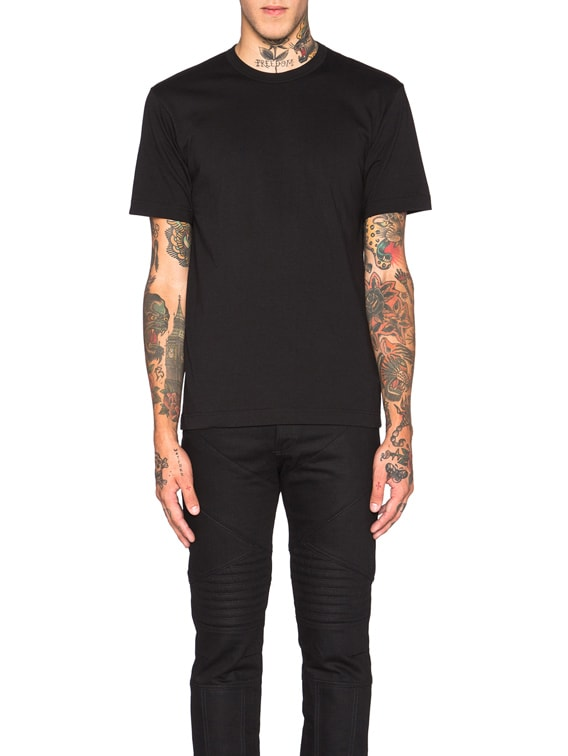 'Forever' Cotton Tee in Black