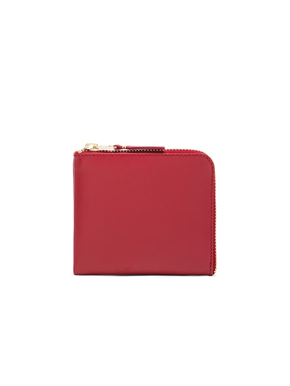 Classic Small Zip Wallet in Red