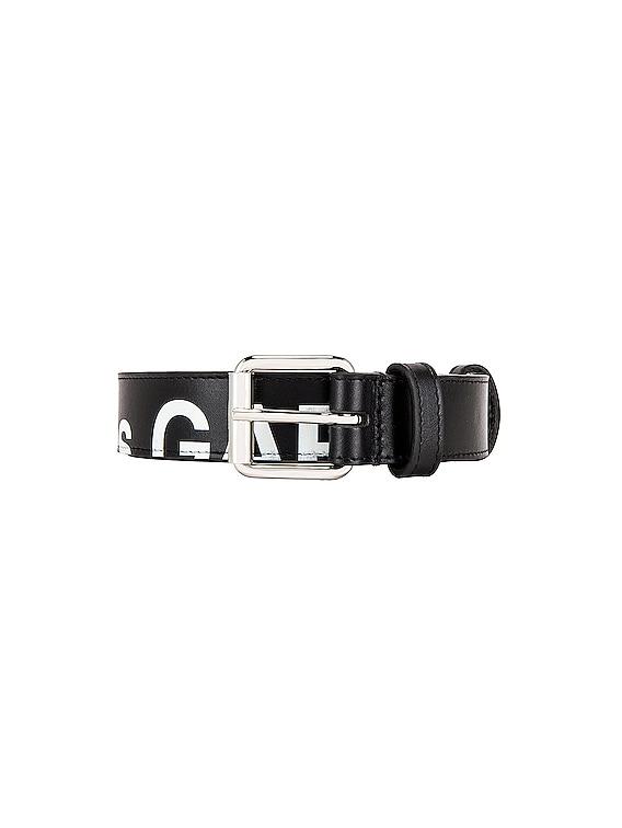 Huge Logo Belt in Black