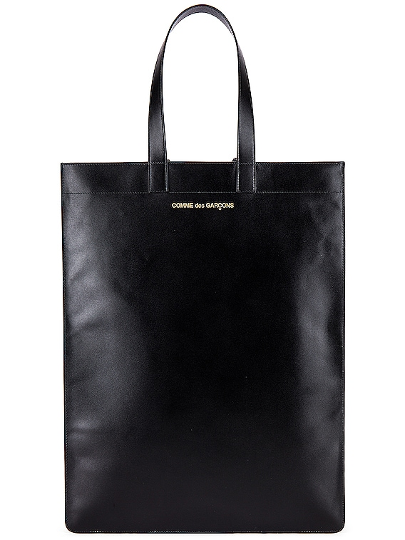 Classic Leather Line B Tote Bag in Black