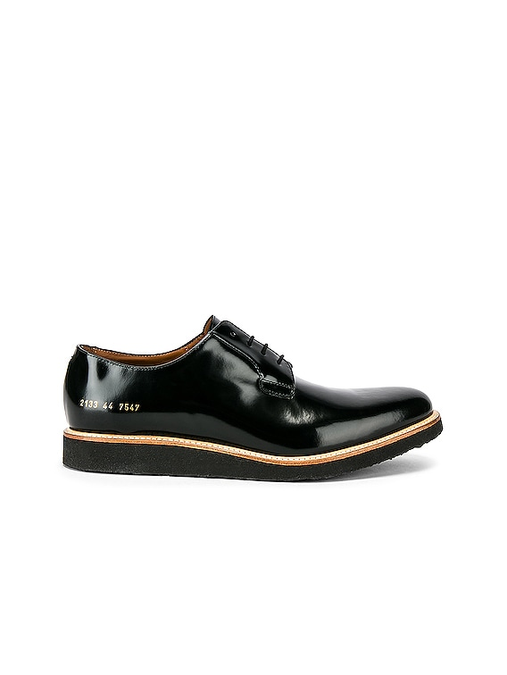 Leather Derby Shine in Black