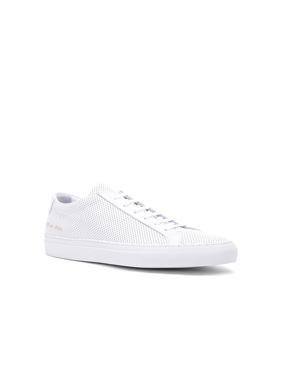 Original Perforated Leather Achilles Low in White