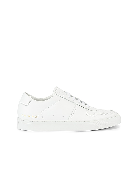 Leather BBall Low in White