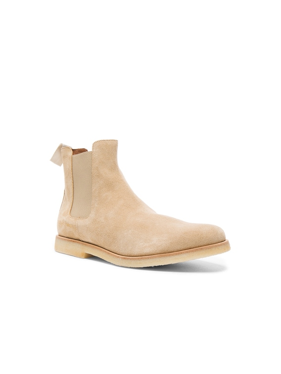 Suede Chelsea Boots in Tan