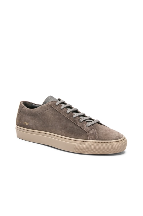 Common Projects Waxed Suede Achilles