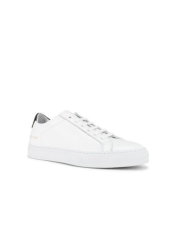 Retro Low Sneaker in White & Black
