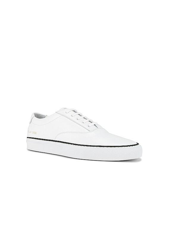 Five Hole Sneaker in White