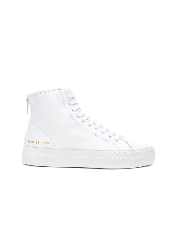 Leather High Tournament Super Sneakers in White
