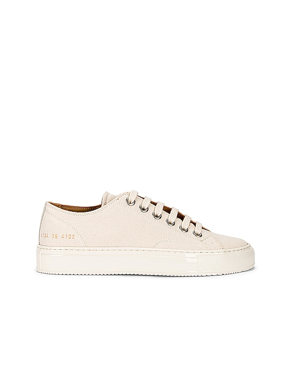 Tournament Low Canvas Sneaker in Off White