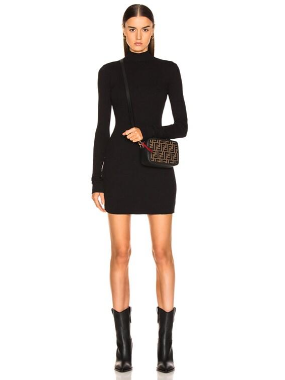 Ibiza Mini Dress in Jet Black