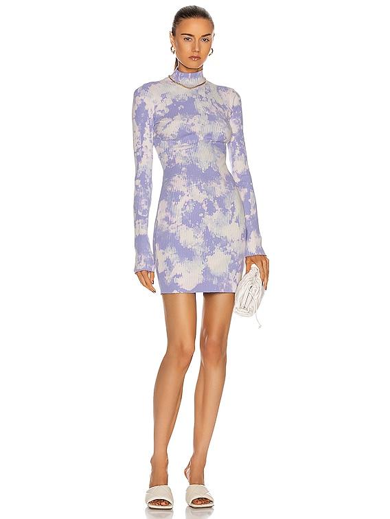 Ibiza Mini Dress in Lilac Splatter