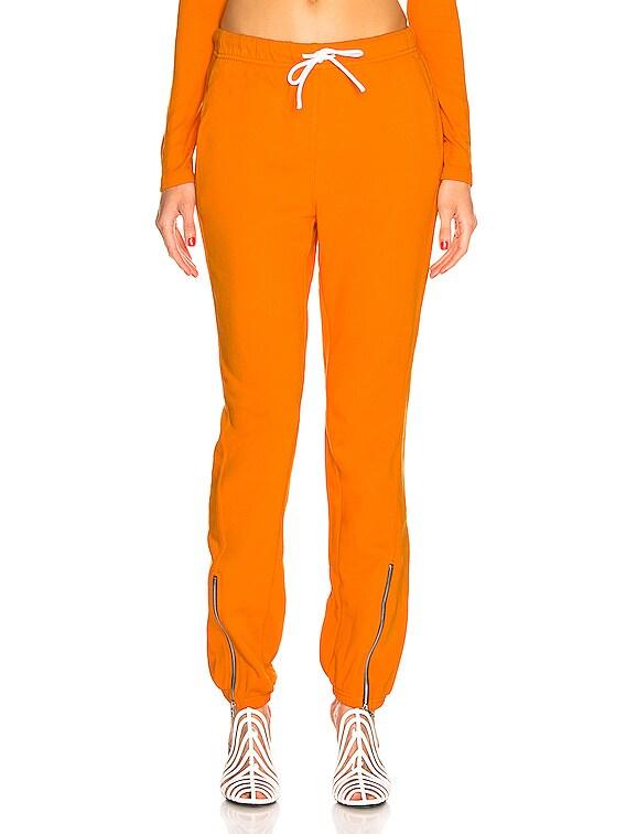 Milan Zip Jogger in Tangerine