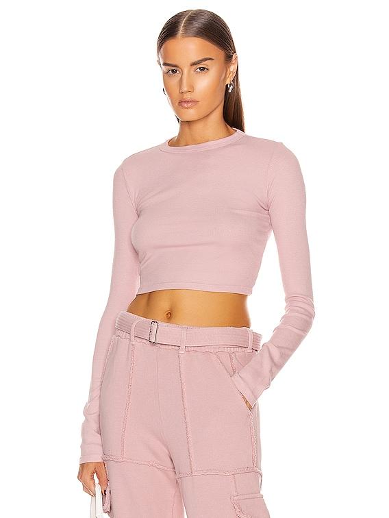 Verona Crop Shirt in Rose