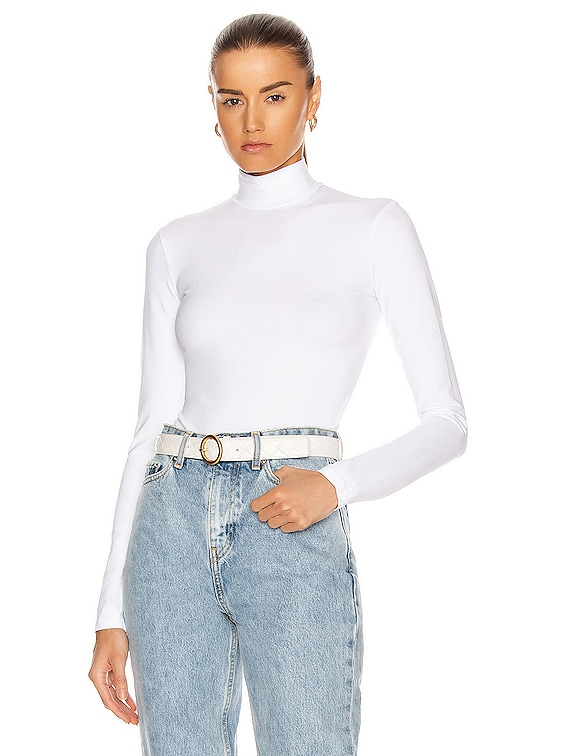 Brisbane Turtleneck Bodysuit in White