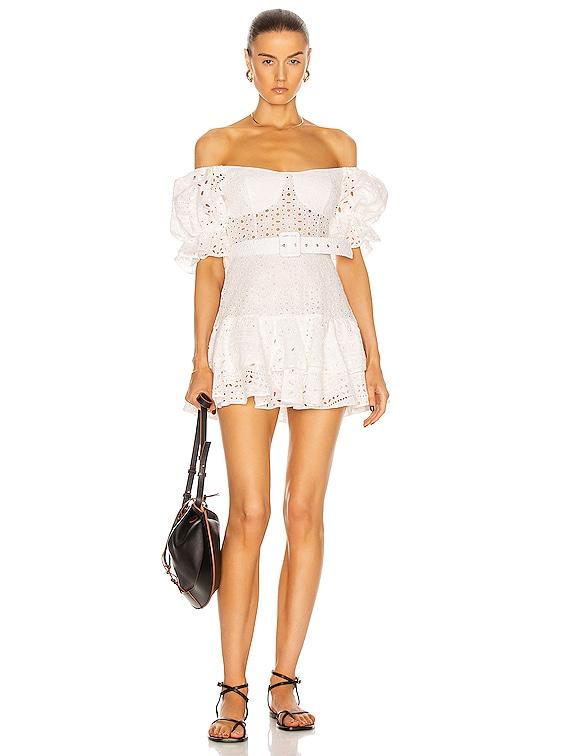 Jean Dress in White