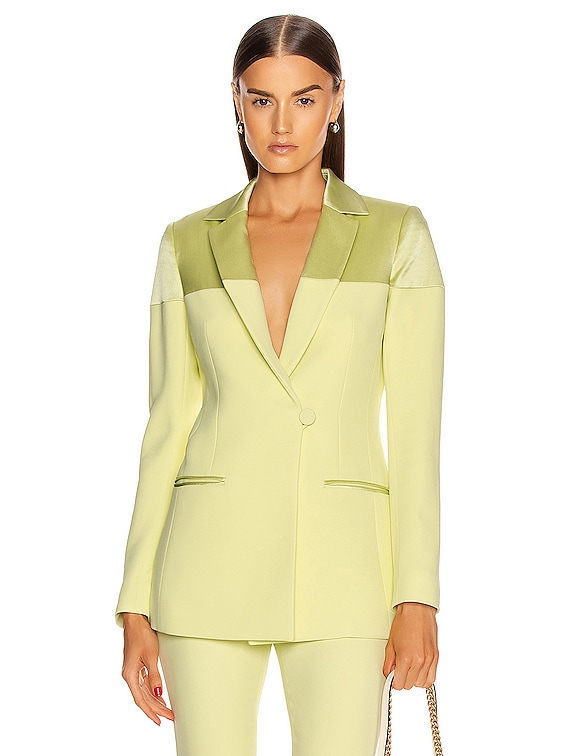 Fitted Jacket in Celery