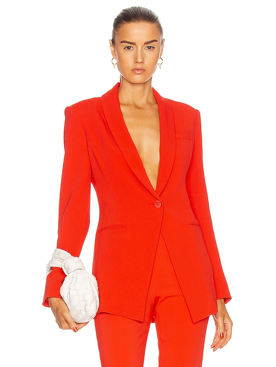 Shawl Collar Jacket in Rouge