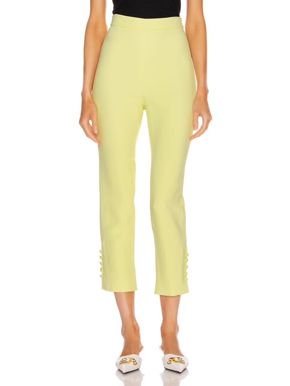 High Waisted Cropped Pant in Celery