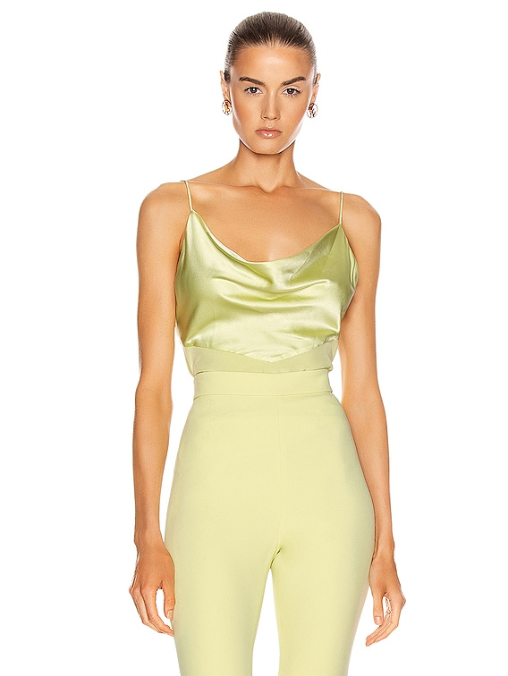 Fitted Tank Top in Celery