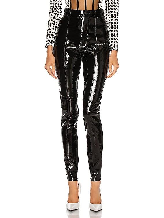 Patent Leather Legging in Black