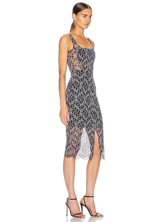 Vein Lace Corset Dress